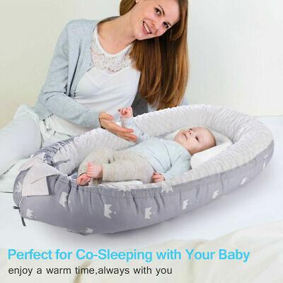 Removable Baby Nest Bed, Portable Soft Bubble Velvet Newborn Baby Bassinet, CA