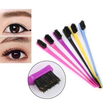 Sided Styling Tool Edges Control Dyeing Comb Hair Brush Eyebrow Grooming