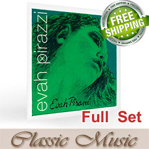Pirastro Evah Pirazzi Violin Strings Full Set 4/4 Steel E Ball End Free Shipping