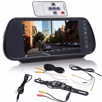 7  Lcd Screen Car Rear View Backup Parking Mirror Monitor   Camera Night Vision