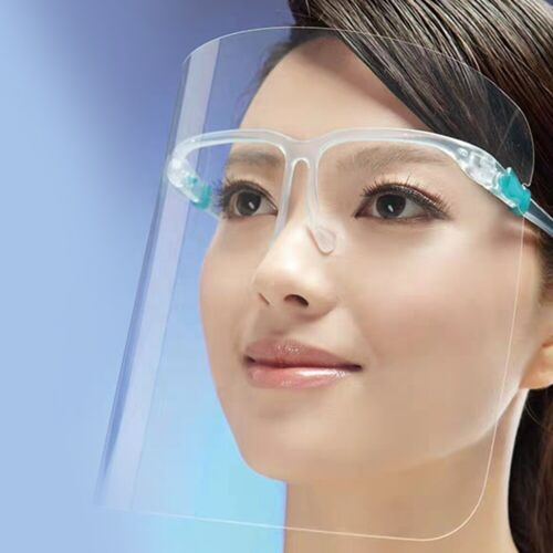 Face Shield  -  Safety Clear Transparent Face Shield with Glasses  Anti Fog