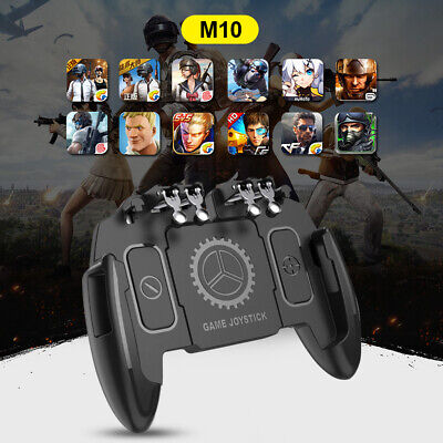 Mobile Phone Game Controller Joystick Six-Finger Cooling Fan Gamepad For PUBG#