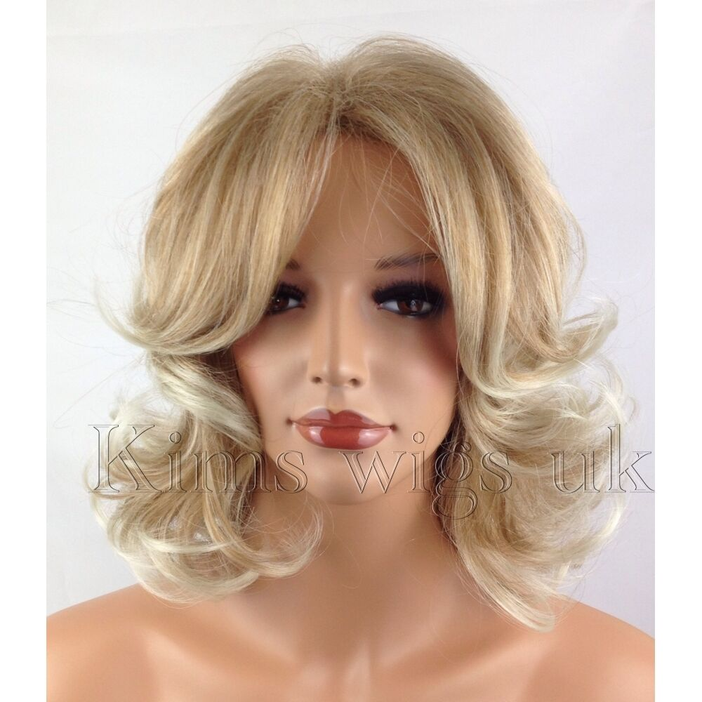 Young Womens Shoulder Length Curly Wigs 42