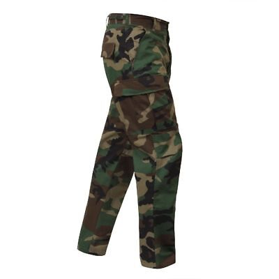 Regular Ripstop Bdu Pants - BDU Cargo Pants Woodland Camo Military Fatigue Rip-Stop Pants 5947 Rothco