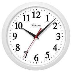 Westclox Classic 10 in. Ventura White Wall Clock Quartz Modern Transitional NEW