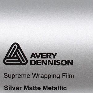 21-70-m-Avery-Supreme-Wrapping-Film-Estera-PLATA-METALICO-MATE-SWF-Coche