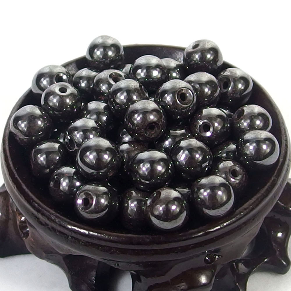 Bulk Gemstones I natural spacer stone beads 4mm 6mm 8mm 10mm 12mm jewelry design black hematite