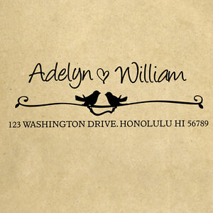 Personalized Custom Handle Mounted Rubber Stamp Returned Address Wedding RE624
