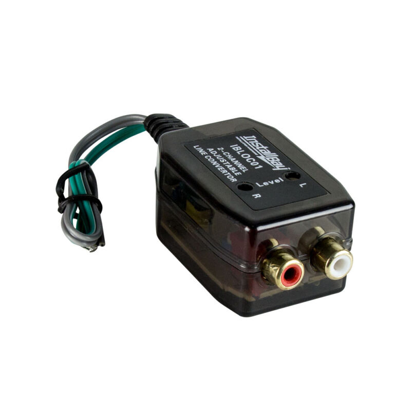 IBLOC01 2-Channel Line Output 40W Adjustable Level Converter (Speaker to RCA)