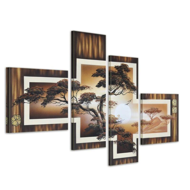 African+Savannah+M1+-+Leinwandbild+4+teilig+100x70cm+Handgemalt