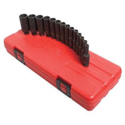 Sunex Tools 14-pc 14 Drive Metric Deep Magnetic Impact Socket Set 1831 New