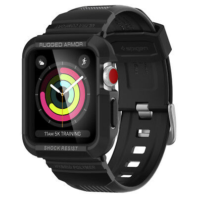Apple Watch Series 3/2/1 42 mm Case Spigen® [Rugged Armor Pro] Sleek Hard Duty