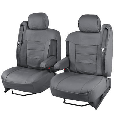 Luxury Thick Leatherette Car Seat Covers for Armrests & Built-In Seat Belts ()