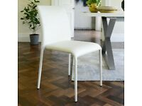 Dwell svelte dining chairs x4 , as new hardly used