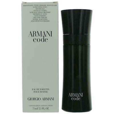 GIORGIO ARMANI Code Eau De Toilette Spray for Men 75ml/2.5 oz NEW in Box (Armani Code For Men Eau De Toilette)