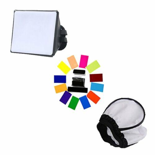 Mini Softbox Diffusor mit Farbfilter Set Für Blitz Aufsteckblitz