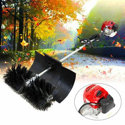 2-stroke Gas Power Sweeper Handheld Walk Behind Sweeper Lawn Brush Broom Cleaner