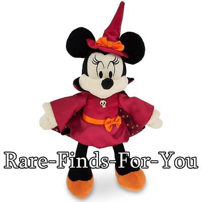 Disney Parks 2018 Minnie Mouse Witch Halloween Plush Doll Toy 11