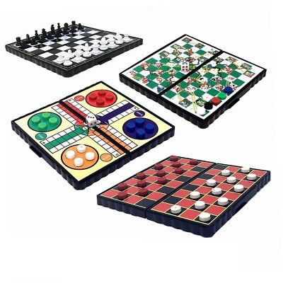 Mini Magnetic Travel Board Games - Chess , Ludo , Snakes and Ladders,  - Magnetic Travel Games