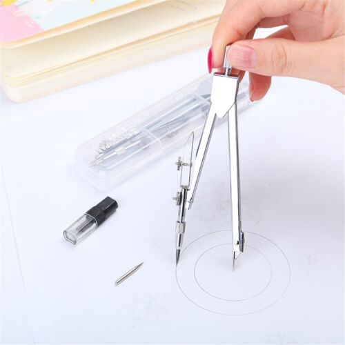 Refills Metal Geometry Teach Tool Stationery Compass Plotter Drawing Tools