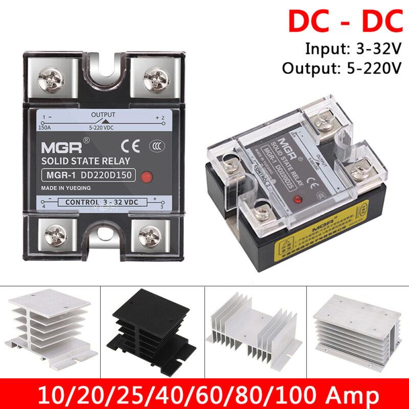 10-100 amp DC-DC Solid State Relays Single-phase SSR Input 3-32V, Output 5-220V