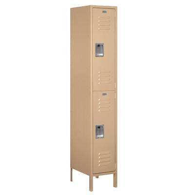Salsbury 52168tn-u Double Tier Extra Wide Standard Metal Locker In Tan Brown New