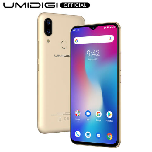 Android Phone - UMIDIGI Power Android 9.0 Waterdrop Screen Smartphone 4GB+64GB Unlocked 5150mAh