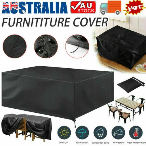 Garden Furniture - Waterproof Furniture Cover Outdoor Patio Garden Rain Snow UV Table Chair Sofa AU