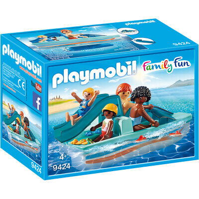 Playmobil Family Fun Floating Paddle Boat Playset 9424