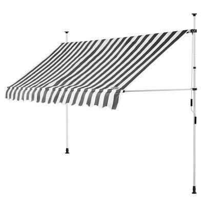 B-Ware Klemmmarkise Weiß/Grau 350cm