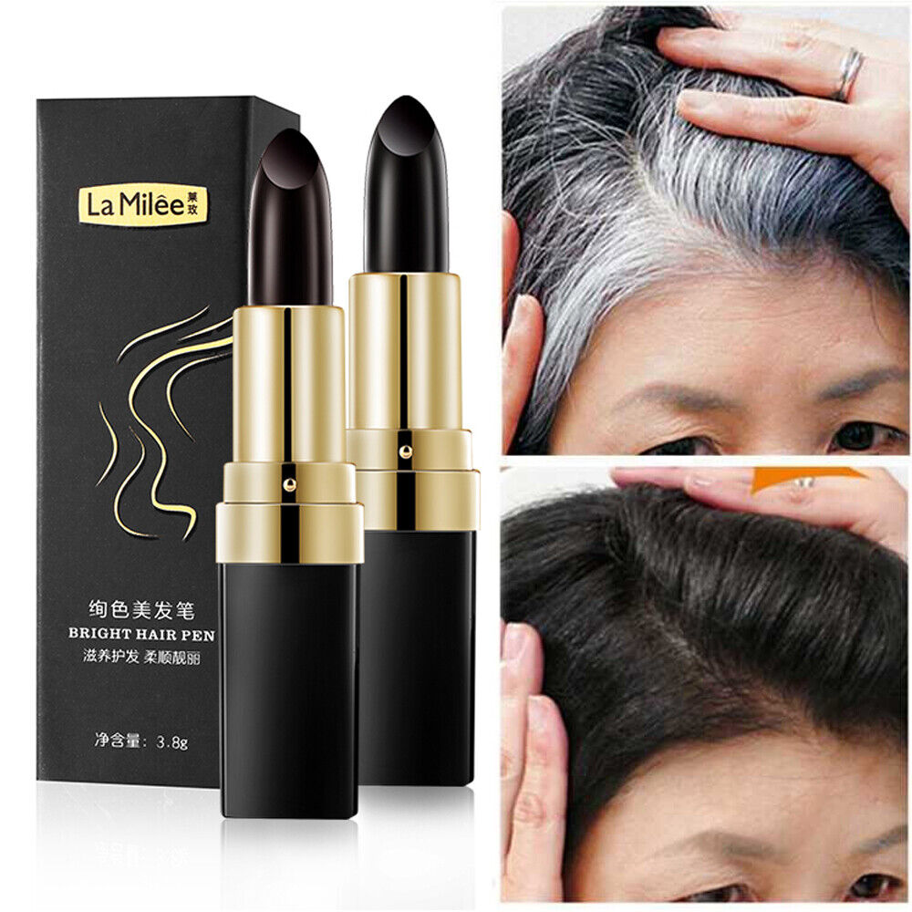 Details about Hair dye Instant Hair Color Modify Cream Stick Temporary  Cover Up White Hair Pen
