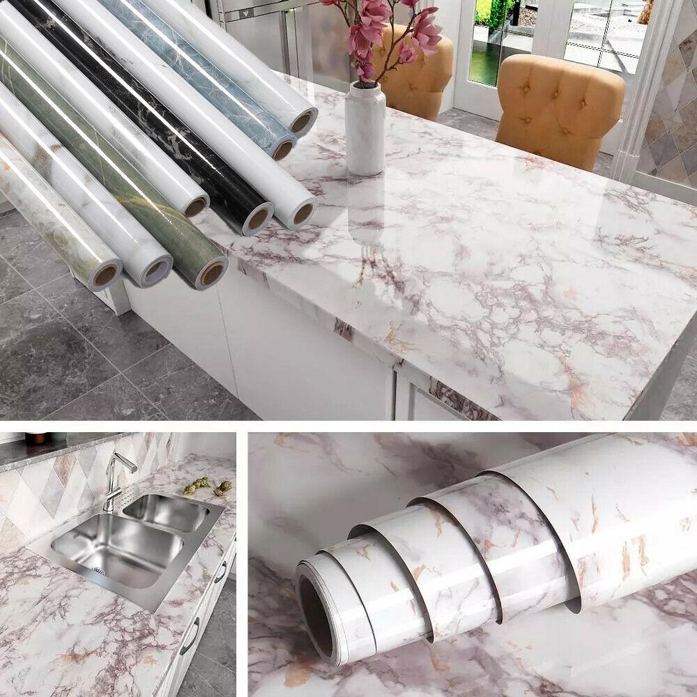 Marble Contact Paper Self Adhesive Peel Stick Wallpaper PVC