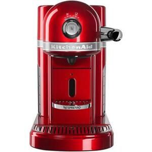 Astounding Nespresso Espresso Machine 5 Cup Red Coffee Maker 19 Bar Pressure Kitchenaid Home Remodeling Inspirations Gresiscottssportslandcom