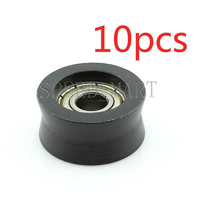 10pcs V Nylon Plastic Embedded 696 Groove Ball Bearings 62110mm Guide Pulley
