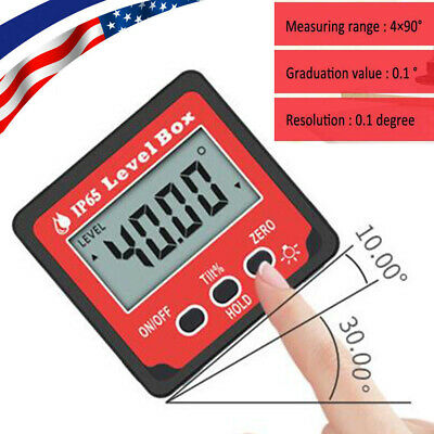 Digital Levelbox Inclinometer Protractor Angle Gauge Meter Magnet Measuring Tool