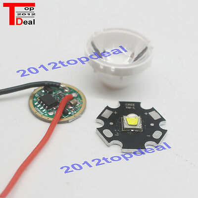 1set Cree Xlamp Xml2 Xm-l2 T6 U2 10w White High Power Led Emitter Driverlens