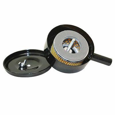 "Compressor Air Intake Filter Metal Body 6"" Dia - 1"" MPT w/Paper Cartridge SA15"