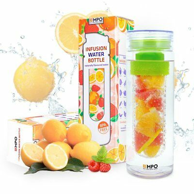 Infuser Green Water Bottle Empo Fruit Tea Sports Infusion Bpa Free 27 Oz  750 Ml