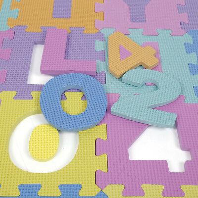 36pc Alphabet Numbers EVA Floor Play Mat Baby Room ABC Foam Puzzle Interaction F