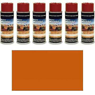 Tp371sp Pack Of Six 6 Number 2 Orange Spray Paint Cans Fits Kubota Machines
