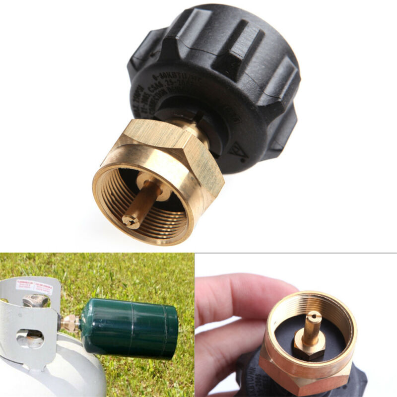 Thread BBQ Canister Valve Cylinder Coupler Propane Refill Adapter Gas Propane