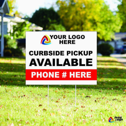 """CUSTOM YARD SIGN 18""""x24"""" Sign Coroplast Printed DOUBLE SIDED with FREE STAND"""