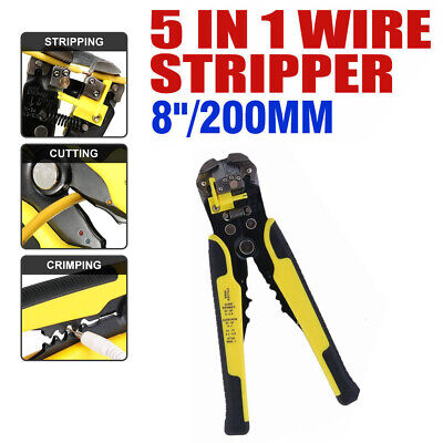 5 In 1 Professional Wire Cutter Crimper Cable Strippers Pliers Electric Plier
