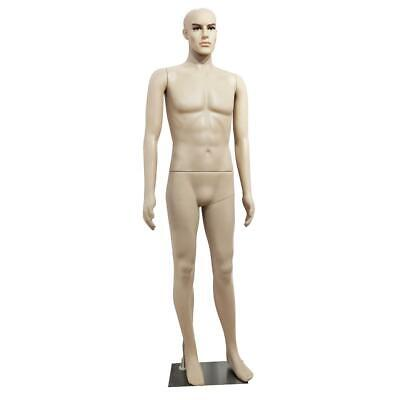 6ft Male Mannequin Full Size Realistic Display Man Clothes Form Plastic W Base