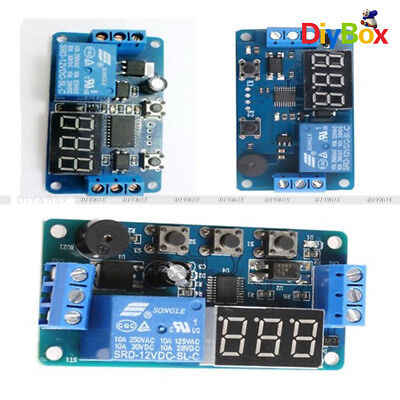 12v Display Led Timer Relay Programmable Module Delay Switch Board Buzzer Button