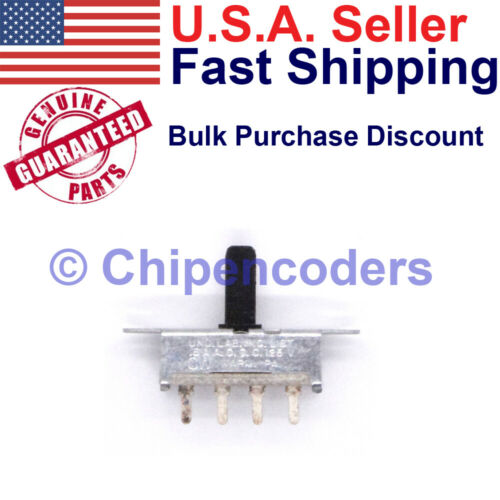 CW SP3T Single Pole 3 Pos. Slide Switch PCB Mount Rated .5 Amp at 125v AC and DC