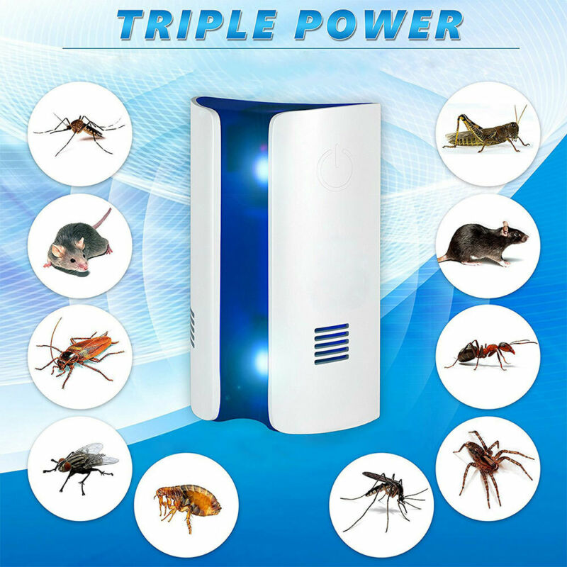 Bread Type Ultrasonic Pest Controller Triple Power Anti Mosq
