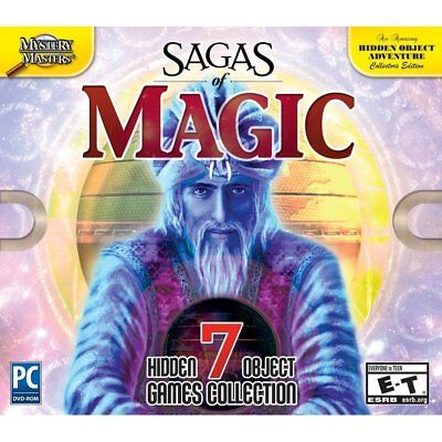 Computer Games - Sagas Of Magic PC Games Windows 10 8 7 XP Computer hidden object collection NEW