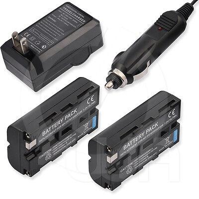 2 Battery+charger For Sony Gv-d800e Digital 8 Video Caset...