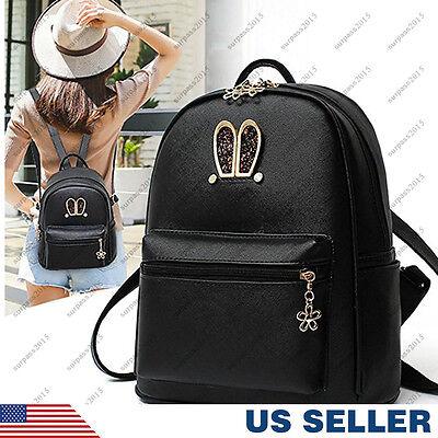 Women Girl Backpack Travel PU Leather Handbag Rucksack Shoulder School Bag New